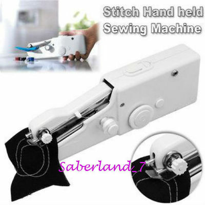 Electric Portable Mini Sewing Machine Handheld Stitch Hand Held Household Tailor