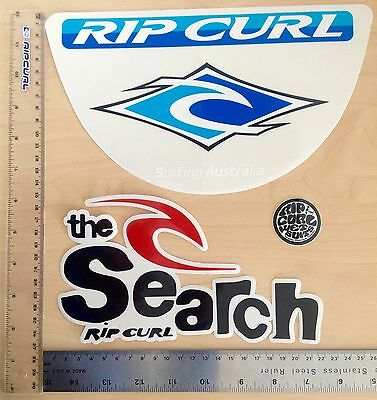 RIP CURL STICKERS SET OF 3  ALL ONE FOR PRICE $20 SURFING 90's THE SEARCH
