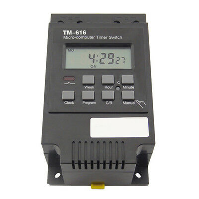 Electronic Weekly Programmable Digital Timer Switch Relay Control 220V 30A SS5