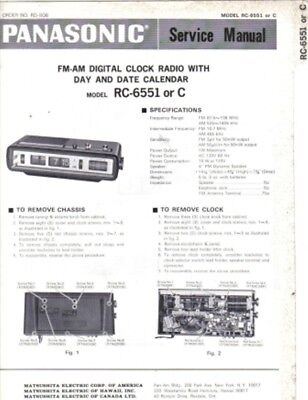 Panasonic Service Manual For Rc-6551 Or C
