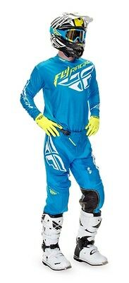 Fly Racing  2018 Completo, Lite Hydrogene, Pant. 34 Jers. L  Light Blue