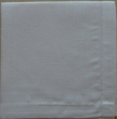 3  Polo Ralph Lauren White Linen Handkerchiefs With Labels