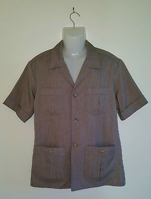 Freedman Mens Safari Jacket Vintage 1970s As New To Fit Chest 102cm Waist 92cm