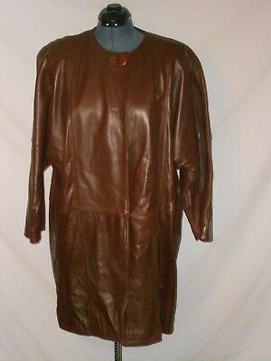 Size Large - Women's 3/4 Length Soft Leather Coat by Weiss