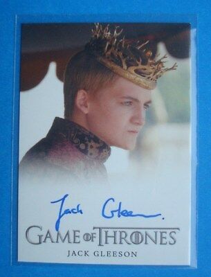 2014 GAME Of THRONES Season 3 GoT Auto/AutoGraph Card Jack GLEESON King JOFFREY