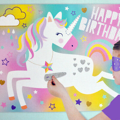 Unicorn Party Game | Kids Unicorn Party | Pin The Tail Style Party Game
