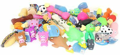 Bulk Pack Assorted Pet Dog Squeaky Chew Ball Rubber Fetch Toys