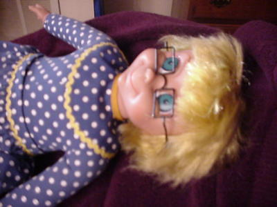 2000 Talking Mrs Beasley Doll with glasses,