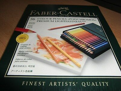"Faber Castell 36 Colour Pencils  "" Polychromos "" Premium Atelier - Box"