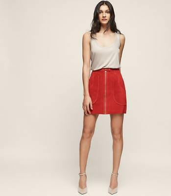 b8cf52cfb2 NEW REISS WOMENS Keaton Suede A-Line Mini Skirt Rust - $340.00 ...