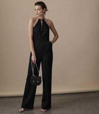 08322a2869f New Reiss Womens Carta Backless Halter-Detail Jumpsuit Black