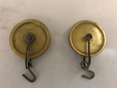 Two 18th/19th Century 8 Day Grandfather Clock Weight Pulleys (2)