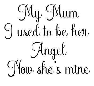 Mum Is My Angel Quote Decal Vinyl Sticker Box Ribba Frame Gift Sympathy Loss