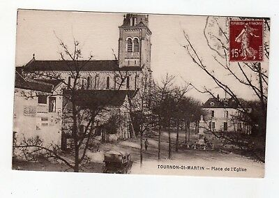 CPA 36 - Tournon St Martin - place de l'église , automobile