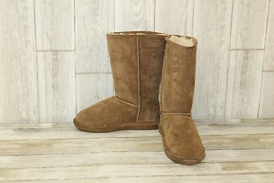12a9d413 BEARPAW Emma Tall Boots - Youth Girl's Size 2 - Brown