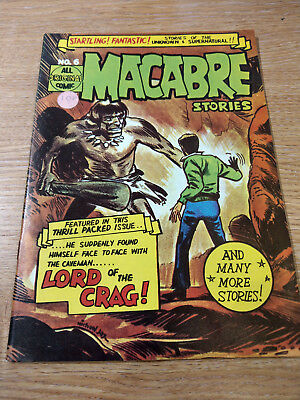 John Spencer And Co Comics Macabre Stories #6 1960's Vintage Silver Age