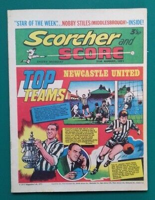 Scorcher and Score comic. 21 August 1971. Newcastle United cover