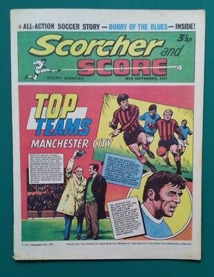 Scorcher and Score comic. 18 September 1971. Manchester City cover