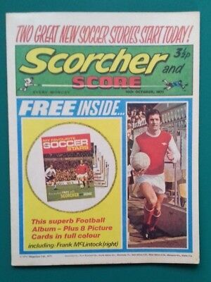 Scorcher and Score comic. 16 October 1971.Frank McLintock Trevor Francis
