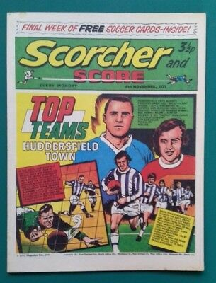 Scorcher and Score comic. 6 November 1971. Huddersfield Town cover