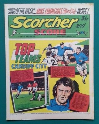 Scorcher and Score comic. 20 November 1971. Cardiff City cover