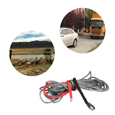 90FT 27M 10mm 20500LBS Synthetic Winch Rope Line Cable for ATV Vehicle UK