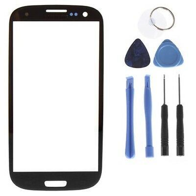 New Replacement Black Outer Screen Glass Lens Samsung Galaxy SIII S3 i9300