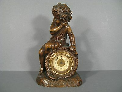 PENDULUM ANTIQUE CHILD SIGNED DEBLANC / CLOCK 19th CENTURY PATTERN Child