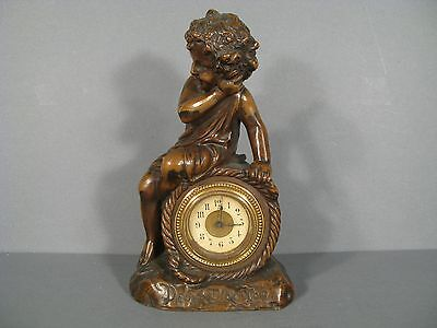 Pendulum Antique Child Signed Deblanc/Clock 19th Century Pattern Child
