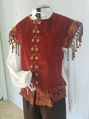 Renaissance Doublet (Sml) - Rust with Tapestry