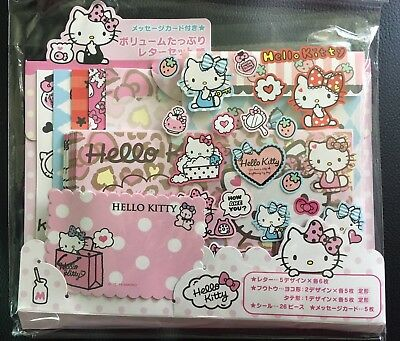 Hello Kitty Official Sanrio Japan Letter Message Card Set Gift Set