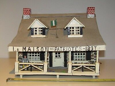 "Vintage Folk Art  ""La maison des patriotes"" It's a replica of a Canadian House"