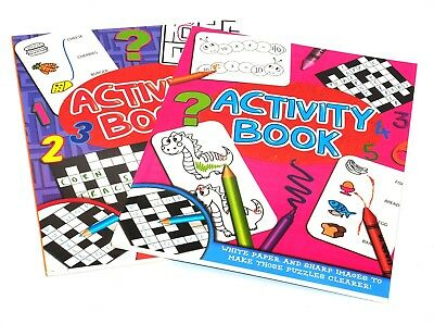 Kids Activity Travel Size Puzzle Book - Contains Colouring Books