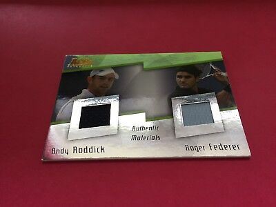 2008 Ace Authentic - DJ3 - Andy Roddick/Roger Federer Dual Jersey Card