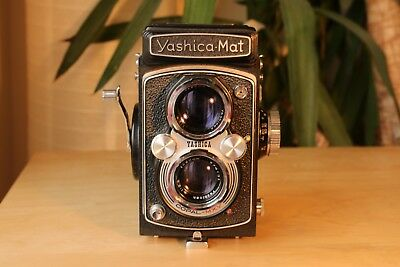 Yashica Mat 120 TLR 6x6 Rolliflex copy, perfect operation and very clean.
