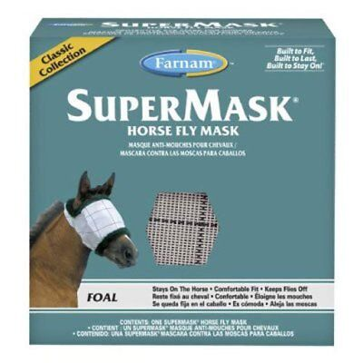 Farnam SuperMask Classic Horse Fly Mask Foal size Assorted