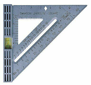 Swanson Tool T0111 Speedlite Level Square Layout Tool (Gray)