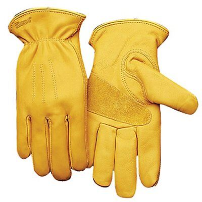 KINCO 198-L Men's Unlined Premium Grain Cowhide Gloves Large Golden