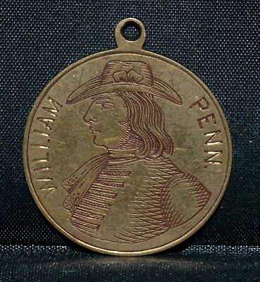 William Penn Love Token ✪ Initials C-A-P ✪ Engraved Pendant L@@k Now ◢Trusted◣