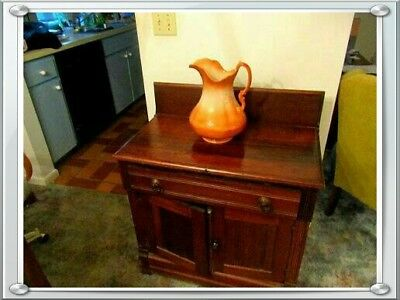Antique 1800's  Dry Sink Cabinet . Normal Wear. Very Nice And Collectible. .can