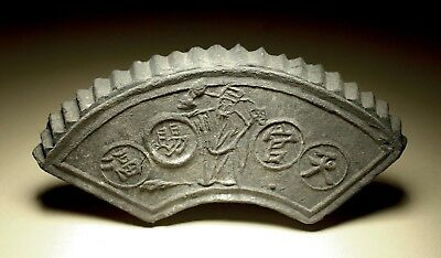 Antique Chinese Temple Roof Tiles x3