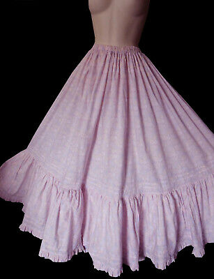 Unique Upcycled Vintage Laura Ashley Pink Floral Maxi Gypsy Skirt 14,16,18,20,22