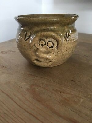 Pretty Ugly Welsh Pottery Sugar Bowl.