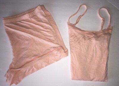 Sleepwear Shorts Cami Set Summer Peach Size Large Brand New