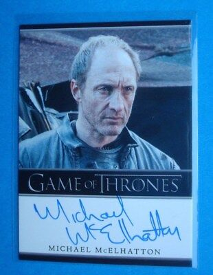 2014 **GAME Of THRONES** Season 3 Auto/AutoGraph Card *Michael McELHATTON Roose