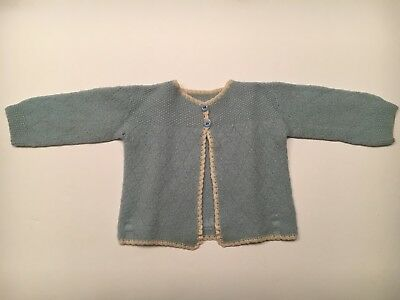 Vintage wool baby blue sweater size newborn
