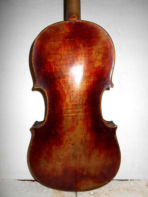 "Antique Old Vintage ""Joh. Bapt. Schweitzer"" 1 Pc. Back Full Size Violin - NR"