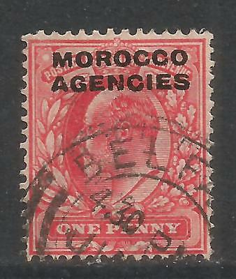 Great Britain 1907-12 Morocco King Edward VII 1p carmine (202) used