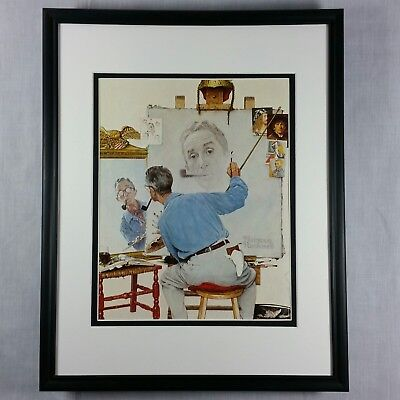Norman Rockwell Self Portrait Sketch Art Oil Painting