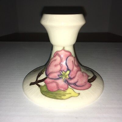 Moorcroft, Sweet Single Candle Holder in the Magnolia Pattern, Made in England